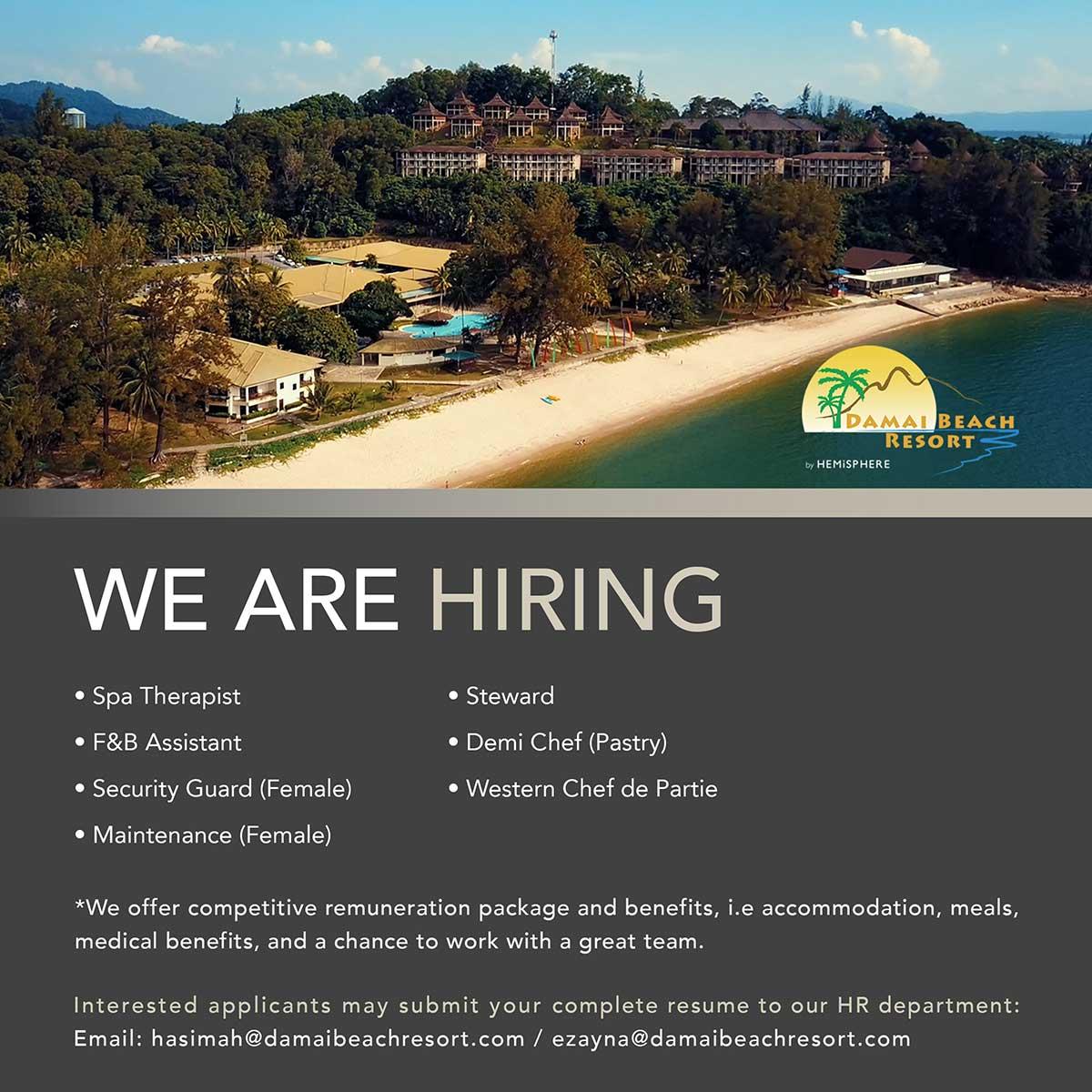 Damai Beach Resort Careers